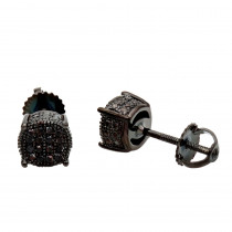 Black Diamond Stud Earrings 0.25ct Sterling Silver