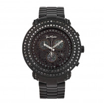 Hip Hop Watches Oversized Black Diamond Watch for Men Joe Rodeo Junior 8ct