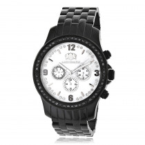 Black Diamond Watch by Luxurman Mens Watches 2.25ct