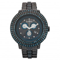 Blue and Black Diamond Watches: Joe Rodeo Pilot Mens Watch 17ct
