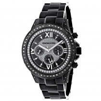 Black Diamond Watches: Luxurman Mens Diamond Watch Liberty