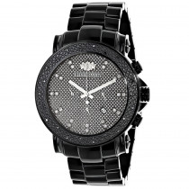 Black Diamond Watches: Oversized Mens Diamond Watch by Luxurman 0.25ct