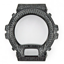 Black G-Shock Bezel Iced Out with Crystals