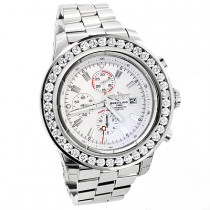 Breitling  Super Avenger 7 Carat Diamond Bezel Watch Custom