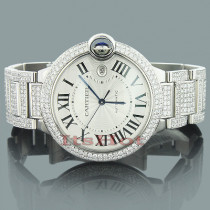 Custom Cartier Ballon Diamond Watch for Men 14.37ct