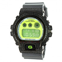 Casio Black G-Shock Watch DW6900 CZ Crystals
