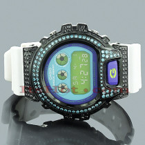 Casio Watches: Blue Black CZ Crystal G-Shock Watch 5ct
