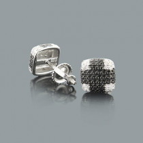 Cheap Diamond Stud Earrings in Sterling Silver 0.09ct