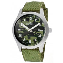 Croton Watches: Men's Military Green Camouflage Dial Green Woven Nylon CA301234LGGR