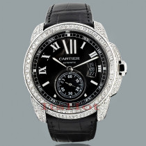 Custom Cartier de Calibre Mens Diamond Watch 9.25ct