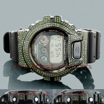 Custom Casio Watches: G-Shock Diamond Watch 5.25 Green
