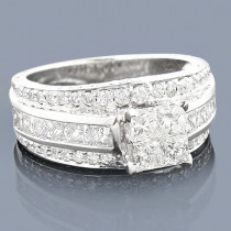 Custom Made Jewelry: Diamond Engagement Ring 3.15ct 14K Gold