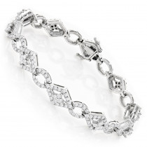 Designer Diamond Bracelet 14K Gold 4.94ct