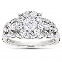 Designer Diamond Engagement Ring 1.61ct 14K Gold