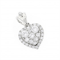 Designer Diamond Heart Pendant in 14k Gold 0.7ct G-H VS-SI Diamonds