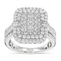 Designer Diamond Rings 14K Gold Diamond Ring 2.40ct