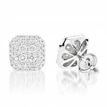 Designer Diamond Stud Earrings 1.21ct 14K Gold