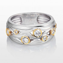 Designer Diamond Wedding Ring LUCCELLO 0.41ct 18K Gold