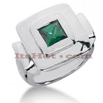 Designer Emerald Ring in 14K Gold 1.25cte