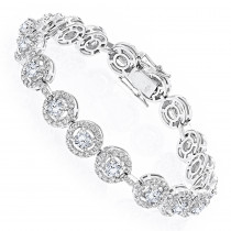 Designer Jewelry: 18K Gold Diamond Bracelet for Women 6ct by Luxurman