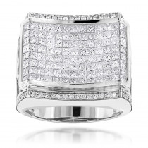 Designer Jewelry for Men: Round Princess Cut Diamond Ring 4.34ct 14K