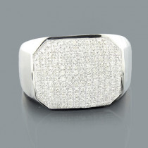 Designer Mens Diamond Ring 0.50ct 10K Gold