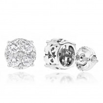 Designer Studs: Large Diamond Earrings 1.75ct 14K Gold
