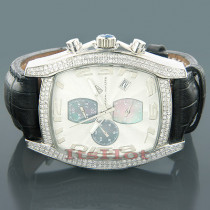 Diamond Aqua Master Watches Mens Diamond Watch 2.00ct