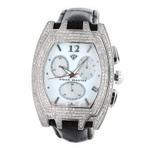 Diamond Aqua Master Watches! Mens Diamond Watch 3.5ct
