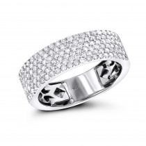 Diamond Bands 14K Gold Micro Pave Diamond Band 1 ct