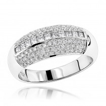Diamond Bands 18K Gold Womens Diamond Ring 0.60ct