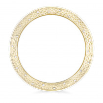 Diamond Bezel Replacement for Luxurman Raptor Yellow Gold Plated 0.25ct