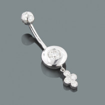 Diamond Body Jewelry: Flower Belly Button Ring 0.72ct 14K Gold