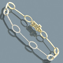 Diamond Bracelets 14K Diamond Ladies Bracelet Oval 1.21
