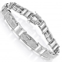 Diamond Bracelets Gold Mens Diamond Bracelet 2.41ct