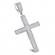 Diamond Cross Pendants 14K Gold Diamond Cross 0.6 ctw