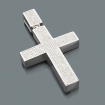 Diamond Cross Pendants for Men: 10K Gold Pendant 1.98ct