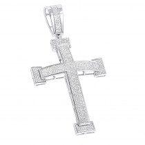 Diamond Crosses 14K Mens Diamond Cross Pendant 2 ct