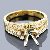 Diamond Engagement Ring Mounting 0.61ct 14K Gold