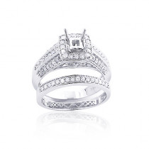 Diamond Engagement Ring Mounting Set 0.83ct 14K Gold