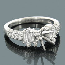Diamond Engagement Ring Settings 18K Gold Setting .99ct