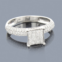 Diamond Engagement Rings 14K Pre-Set Diamond Ring .84ct