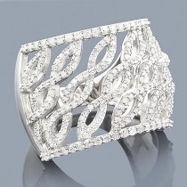Diamond Fashion Rings: 14K Gold Diamond Ring 1.25