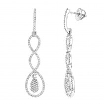Diamond Infinity Earrings for Women 14K Gold 0.5ct