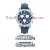 Diamond Mens Benny Co Watch 5ct Navy