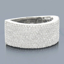 Diamond Micro Pave Wedding Band 1.25ct 14K Gold