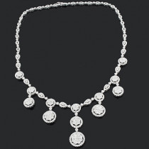 Diamond Necklace in 18K Gold 15.20ct Fine Jewelry Collection