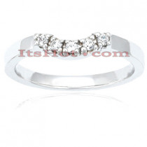 Thin Diamond Platinum Engagement Band 0.08ct