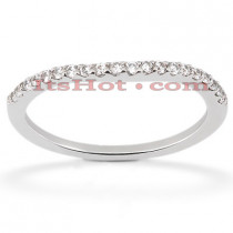 Ultra Thin Diamond Platinum Engagement Band 0.16ct