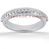 Thin Diamond Platinum Engagement Band 0.30ct